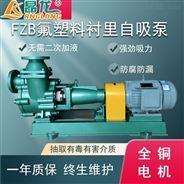 FZB型臥式氟塑料合金單相液體輸送自吸泵