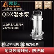 QDX臥式不銹鋼潛水泵 220v整體304水泵