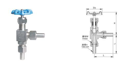 J24W-160P外螺纹角式截止阀结构图